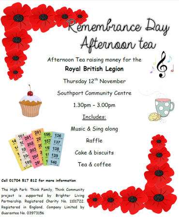 HPTFTC Remembrance Day Afternoon Tea