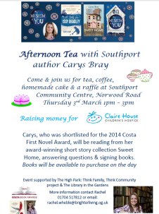 Afternoon Tea With Southport Author Carys Bray