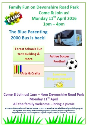 Family fun on Devonshire Road Park